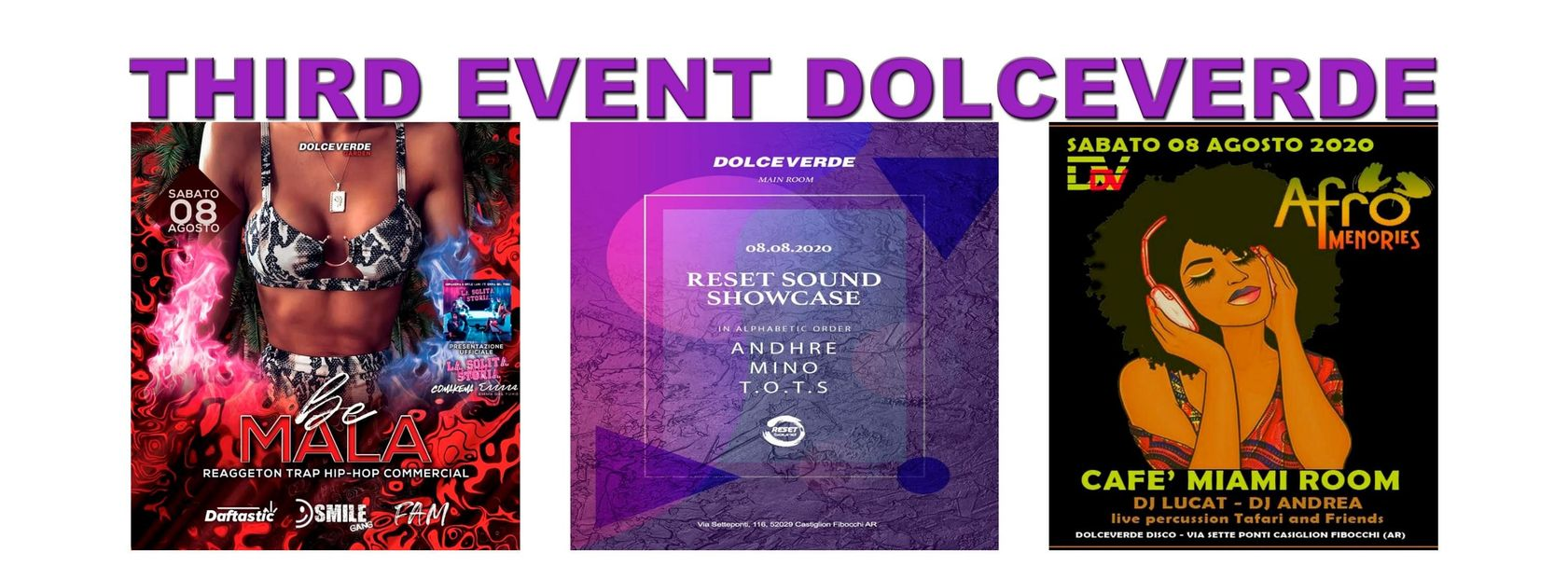 DOLCEVERDE Third Event